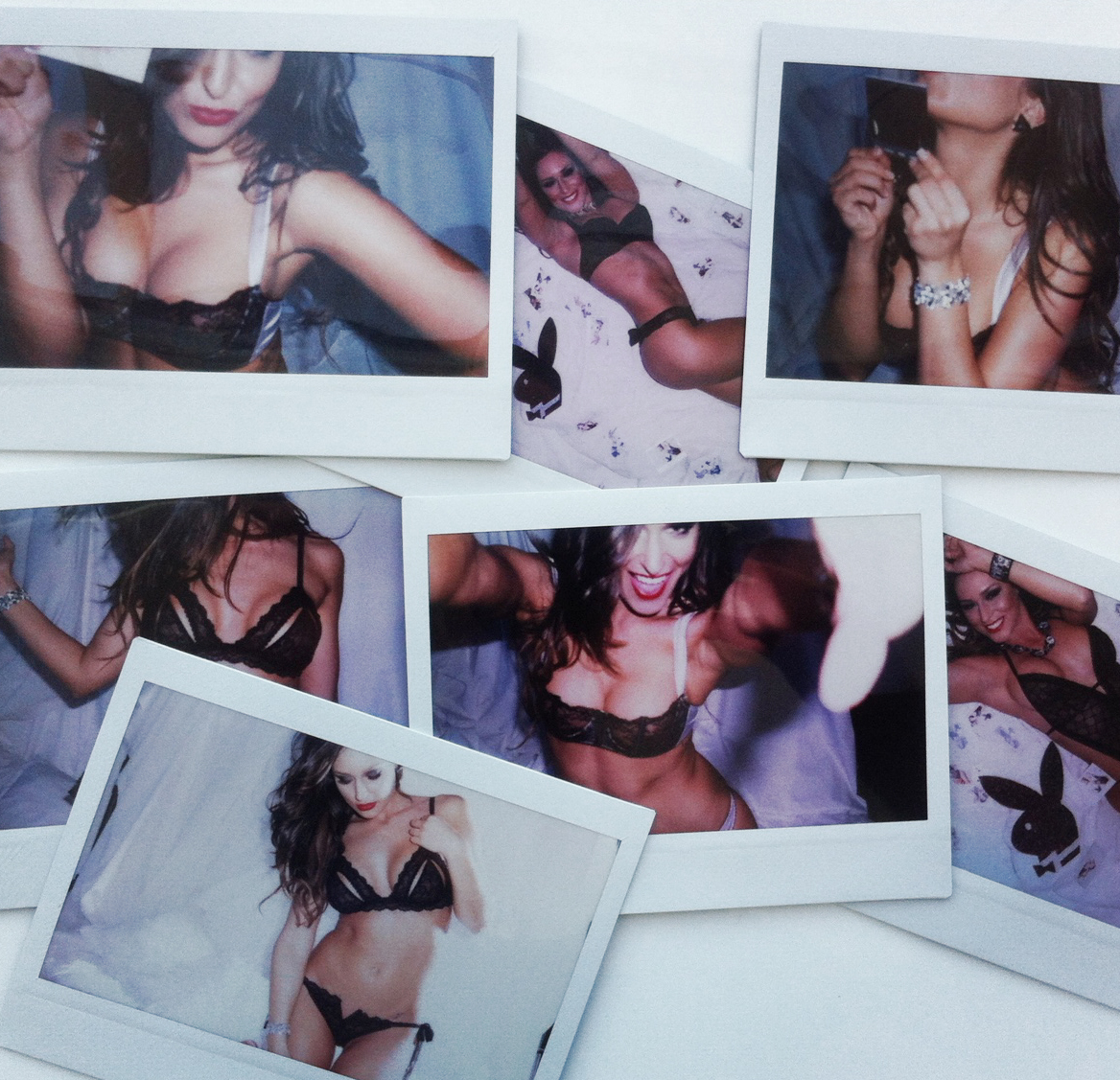 A selection of the 100 polaroids I shot of Yolandi Malherbe on her cover shoot.