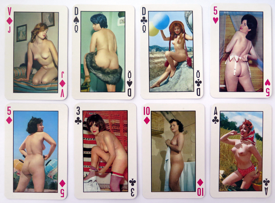 Vintage Pinup Playing Cards 001