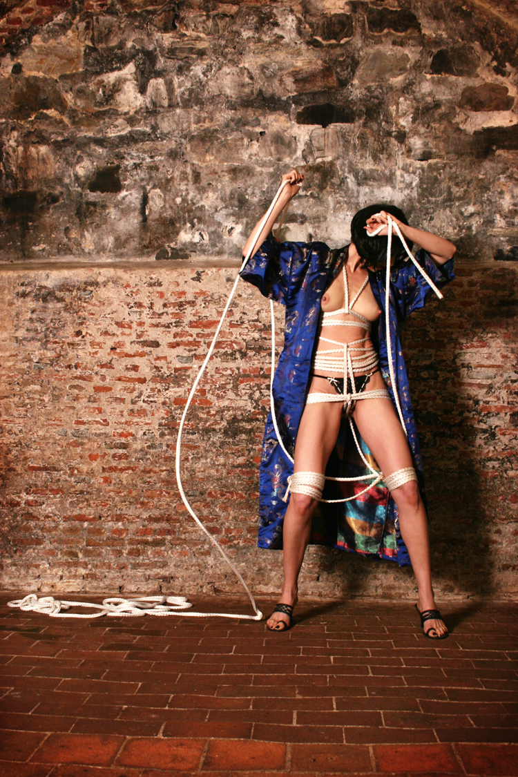 Shibari inspired images shot in the Castle at the Cape of Good Hope