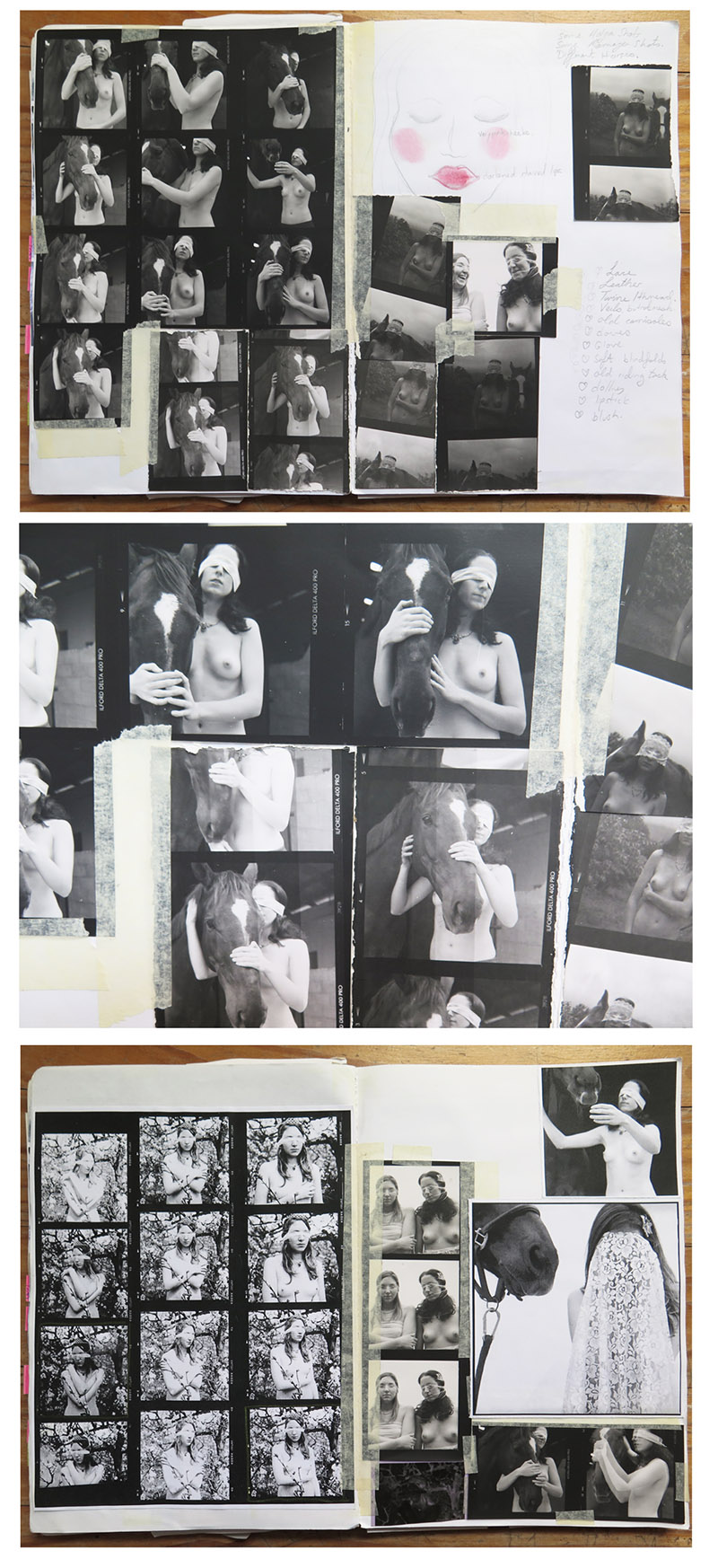 Details from my visual diary during The Debut Girls production.