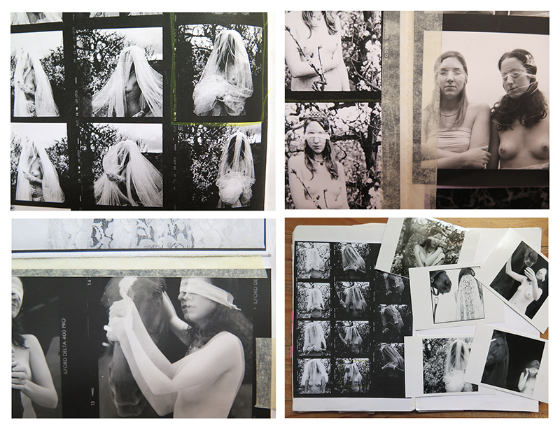 Images from my visual diary of the time show contact sheets, test strips, notes and sketches.
