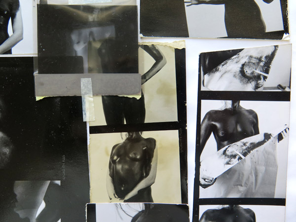 "A detail from my visual diary of the time. A working page with test strips created while I was processing ""Shooting Godiva"" images of Lynette Bester."