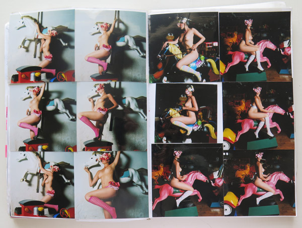 Pages from my visual diary of the time- images show shoot preparation and research, image editing  and body language sketches.
