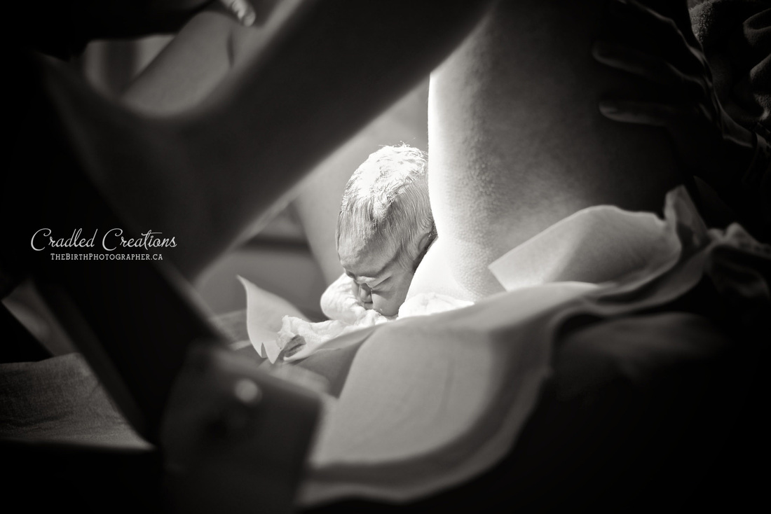 """From her series of """"Amazing Birth photos of Half Born Humans"""". Photography by Jaydene Freund"""