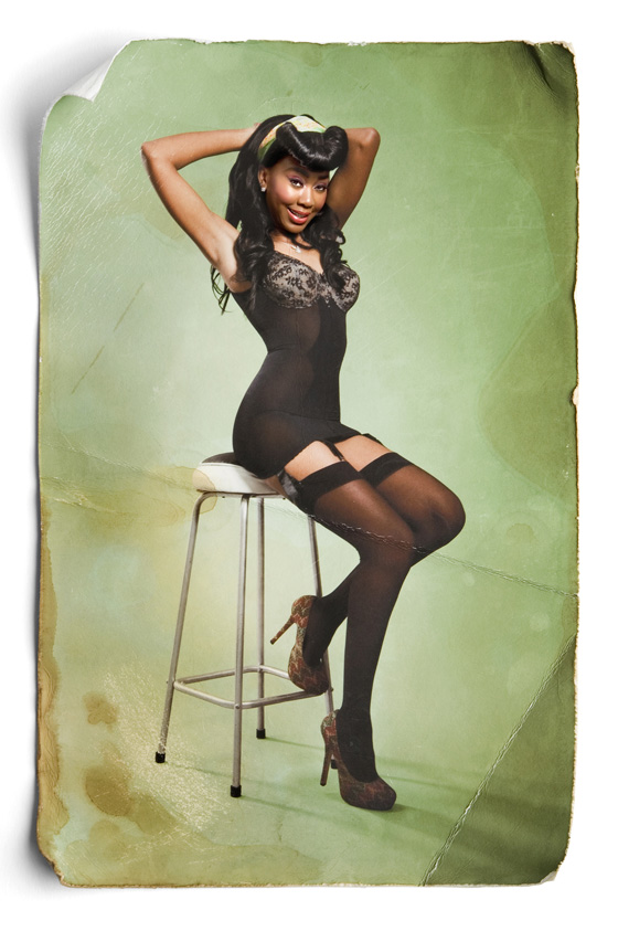 Mpho- Pinup Miss August 2011 Photography by Leah Hawker Cape Town Photography