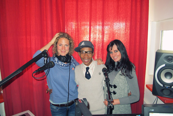 Wendy DuToit and Leah Hawker at MuthaFM Radio Interview