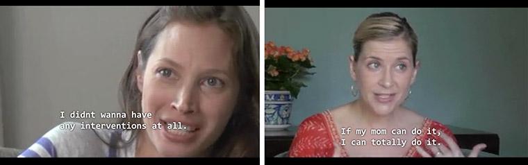 Christy Turlington Burns (left) & Kellie Martin (right).