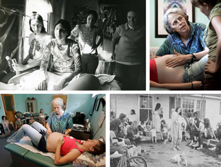 Images taken from the web of The Farm Community  and Ina May Gaskin at work