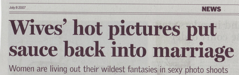 Sunday Times Article about Nude Boudoir Shoots in Cape Town