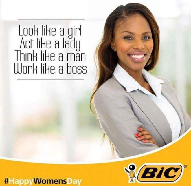 HappyWomensDay controversial advert by BIC