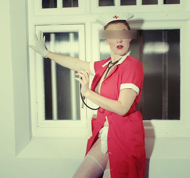 Nursie-Nursie latex gloves nurse outfit photoshoot cape town